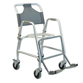 Shower Transport Chair with Footrest & Wheels-250 Lbs Cap.