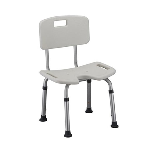 Perineal Opening Shower Chair with Back-300 Lbs Cap. in...