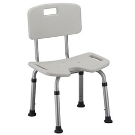 Perineal Opening Shower Chair with Back-300 Lbs Cap.