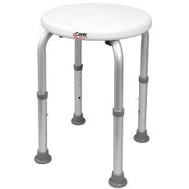 Compact Round Shower Stool-250 Lbs Cap.