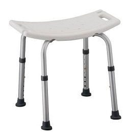 Shower Chair Bath Seat Without Back - 300 Lbs Capacity