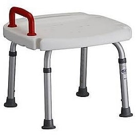 Adjustable Bath Bench With Red Handle-300 Lbs Cap.
