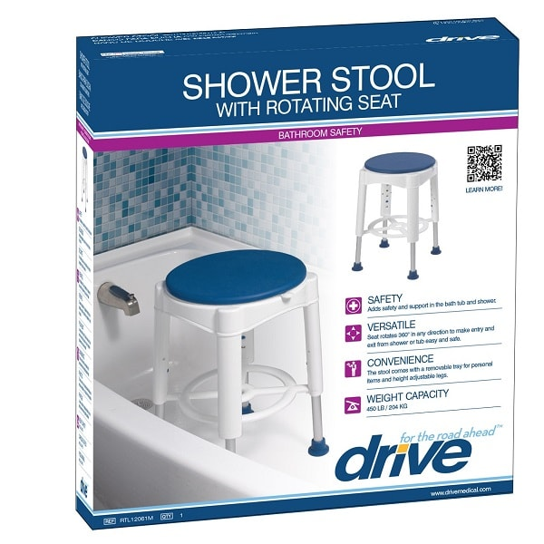 Swivel Seat Shower Stool with Padded Sea