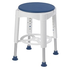 Swivel Seat Shower Stool with Padded Seat-450 Lbs Cap.