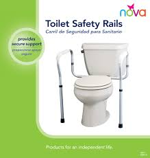 Nova Toilet Safety Rails- 250 Lbs Capacity in Houston TX by Nova
