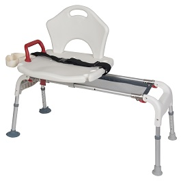 Folding Universal Sliding Transfer Bench-300 Lbs Cap. in Houston TX by Drive Medical