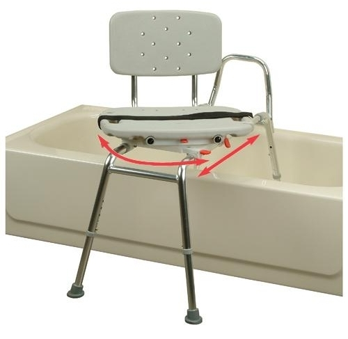 Sliding Transfer Bench With Swivel Seat and Back