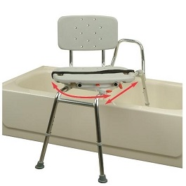 Snap-N-Save Sliding Transfer Bench with Swivel Seat and Back-400