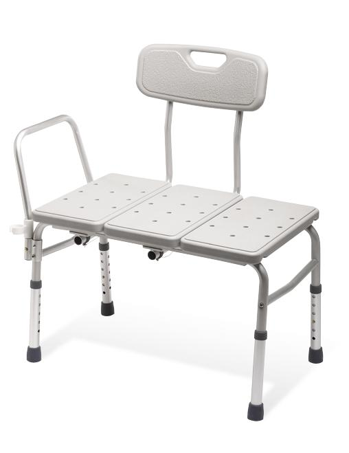 Unpadded Sliding Transfer Bench