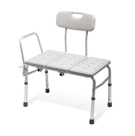 Unpadded Adjustable Transfer Bench-300 Lbs Cap.