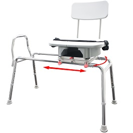 Snap-N-Save Sliding Transfer Bench with Replaceable Cut Out Swiv in Houston TX by Eagle Health