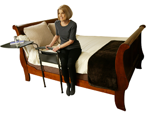 Independance Bed Table w/ Swivel Tray & Pocket Organizer