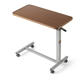 Lightweight Invacare Auto Touch Overbed Table