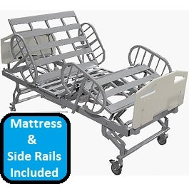 "48"" Bariatric Full Electric Hospital Bed Pckg-750 Lbs Cap"