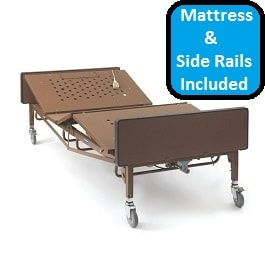"42"" Bariatric Full Electric Hospital Bed Pckg-600Lbs Cap"