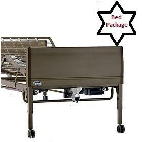 "XLong Full Elect. Hospital Bed Package(84"" Bed Frame)-450 Lb Cap"