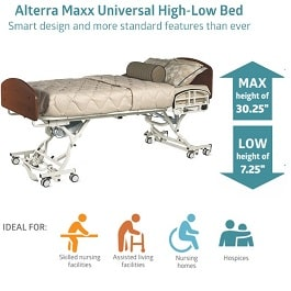 Alterra Hi-Low Trendelenburg Long Term Care Bed With Side Rails