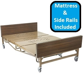 "54"" Heavy Duty Bariatric Hospital Bed Package-1000 Lb Cap"
