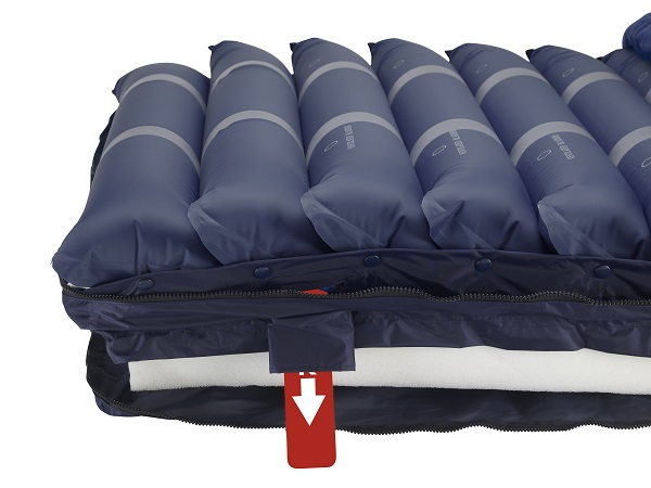 Alternating Pressure-Low Air Mattress with Foam Base & Pump