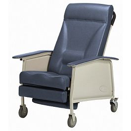 3-Position Recliner Geriatric Chair 400 Lbs Capacity-Deluxe Wide