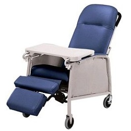 3 Position Recliner Geriatric Chair 250 Lbs Cap.