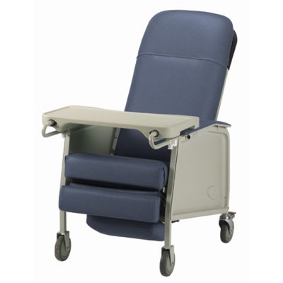 3-Position Recliner Geriatric Chair Blue