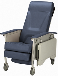 3-Position Recliner Geriatric Chair Deluxe Blue