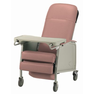 3-Position Recliner Geriatric Chair Rosewood