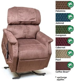 21 Inches Zero Gravity MaxiComforter Recliner Chair 375Lbs Cap by Golden Technologies