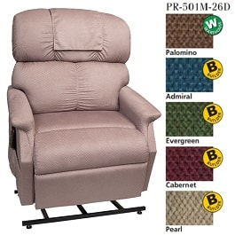"Comforter 3 Position 26"" Medium XWide Recliner Chair-500Lbs Cap."