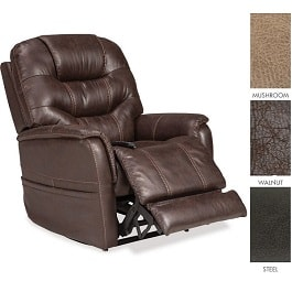 "22"" Elegance Vinyl Recliner Lift Chair With Lumbar & Power Pillo"