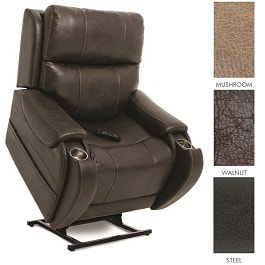 "22"" Atlas Vinyl Lumbar & Power Pillow Lift Chair Recliner-375Lb"