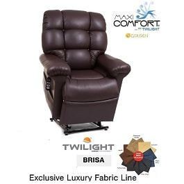 Twilight Zero Gravity Lift Chair With Luxury Brisa Fabric