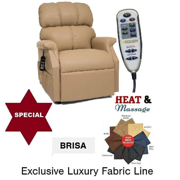Medium Deluxe Brisa Power Pillow Heat & Massage Lift Chair
