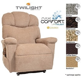 Orion 3 Position Lift Chair With Twilight Technology-375 Lbs Cap