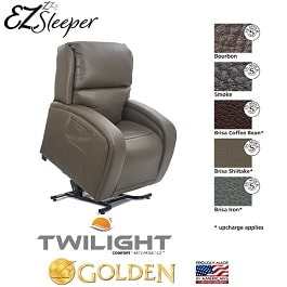 EZ Sleeper MaxiComfort  Twilight Technology   375 Lbs Cap by Golden Technologies