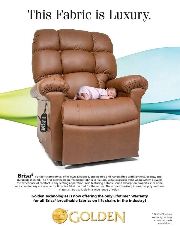 Deluxe Cloud Zero Gravity Lift Chair With Brisa Fabric and Heat
