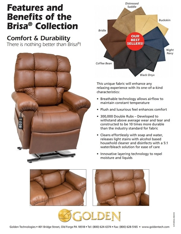 Deluxe MaxiComforter Brisa Recliner Lift Chair With Heat & Massa
