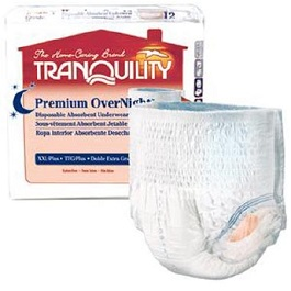 Underwear Tranquility Premium OverNight 2XLarge Size-CS/48 Count