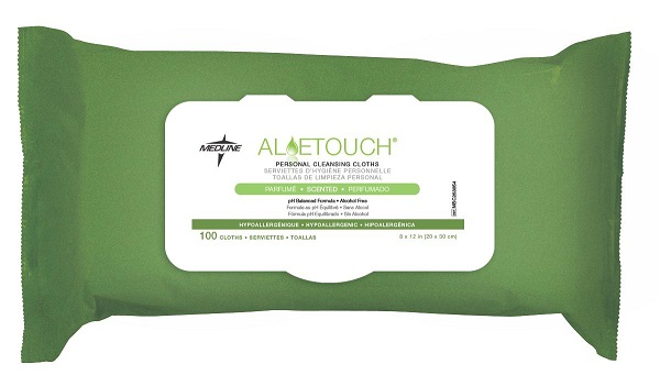 Aloetouch Personal Cleansing Wipes-100 Count