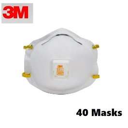 3M 8511 N95 Masks (40 Masks Count)