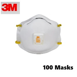 3M 8511 N95 Masks (100 Masks Count)