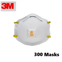 3M 8511 N95 Masks (300 Masks Count)