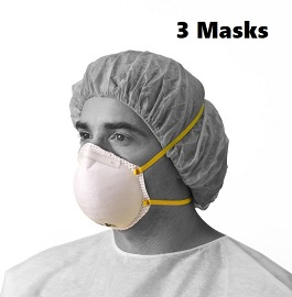 N95 Masks NIOSH Certified & CDC Approved-3 Cnt