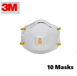 3M 8511 N95 Masks - 10 Count