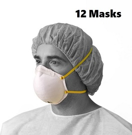 N95 Masks NIOSH Certified & CDC Approved-12 Cnt
