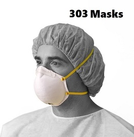 N95 Masks NIOSH Certified and CDC Approved 303 Cnt by N95