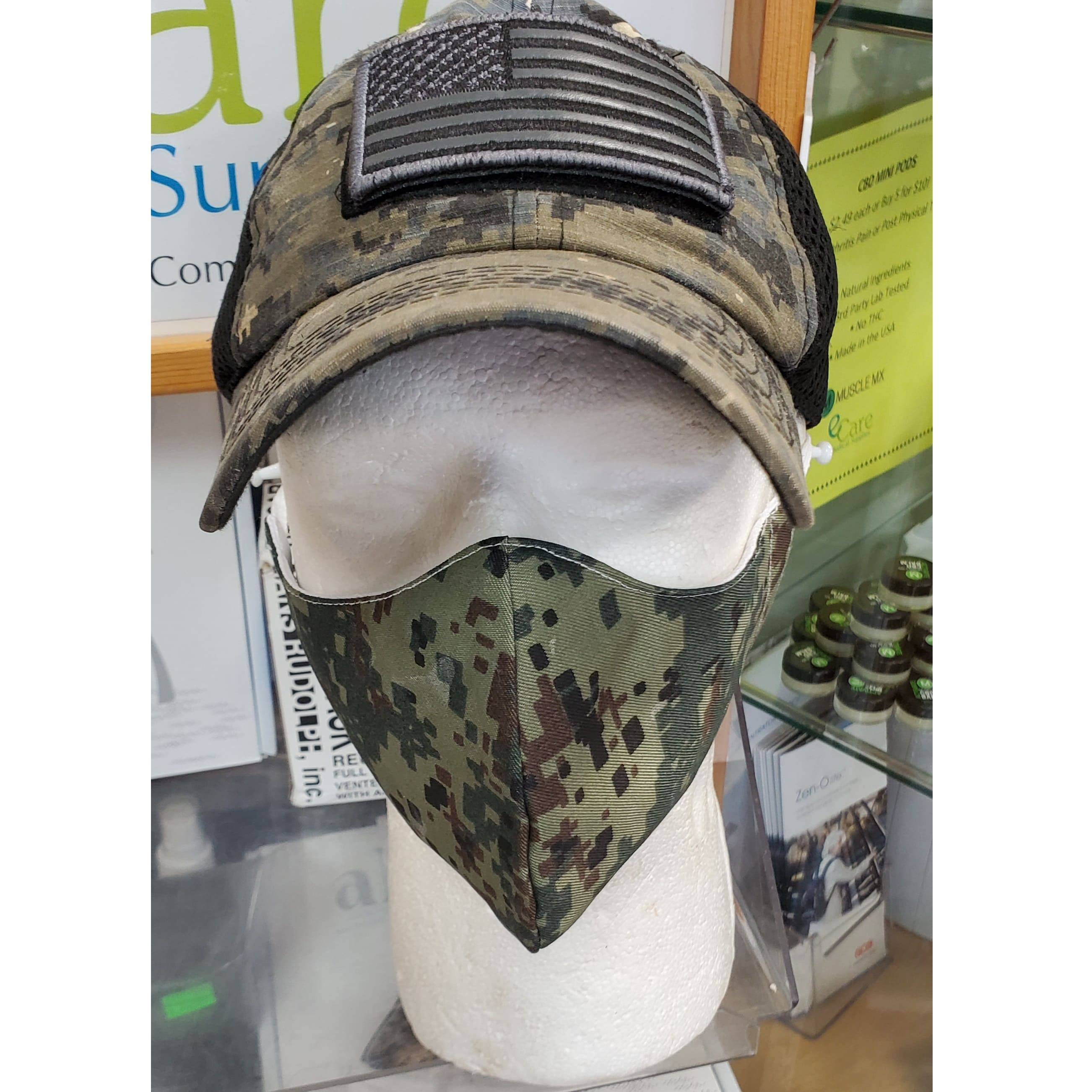 Camo Triple Layer High Quality Fabric Face Mask - 3 Count
