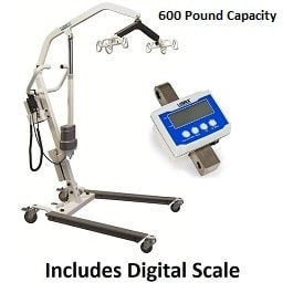 Easy Lift Electric Hoyer Lift With Digital Scale - 600 Lb Cap