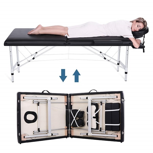 Professional Folding Massage Table With Aluminum Frame